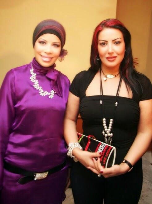 مع الفنانة سمية الخشاب عام 2009