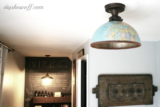 lampa z motywem mapy tutorial DIY Eco Manufaktura