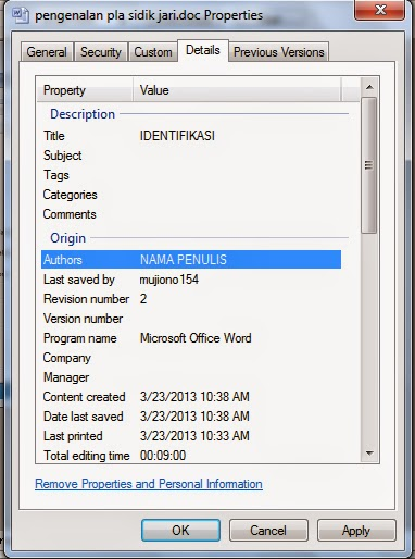 how to change the author name in word