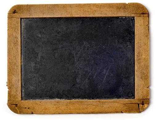 vintage chalk slate