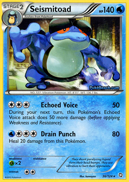 Seismitoad -- Dragons Exalted Pokemon Card Review ...