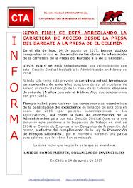 ¡¡¡POR FIN!!! SE ESTÁ ARREGLANDO LA CARRETERA DE ACCESO DESDE LA PRESA DEL BARBATE A LA PRESA DE EL