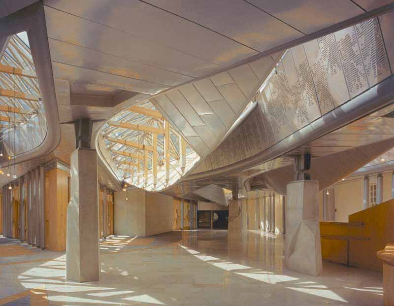 unit 03   metamorphosis enric miralles   scottish parliament