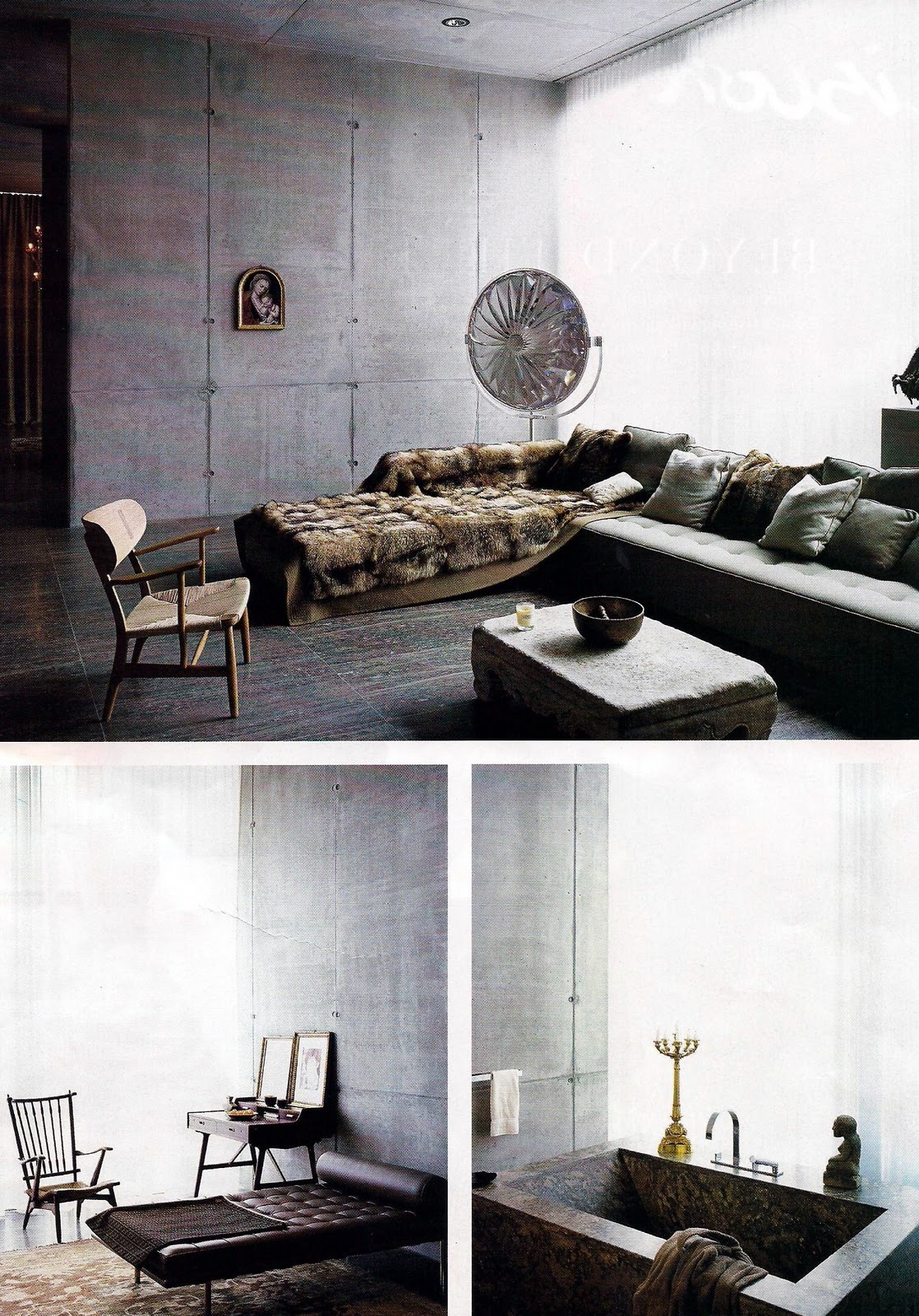 ren e finberg 39 tells all 39 in her blog of her adventures in design berlin concrete walls. Black Bedroom Furniture Sets. Home Design Ideas