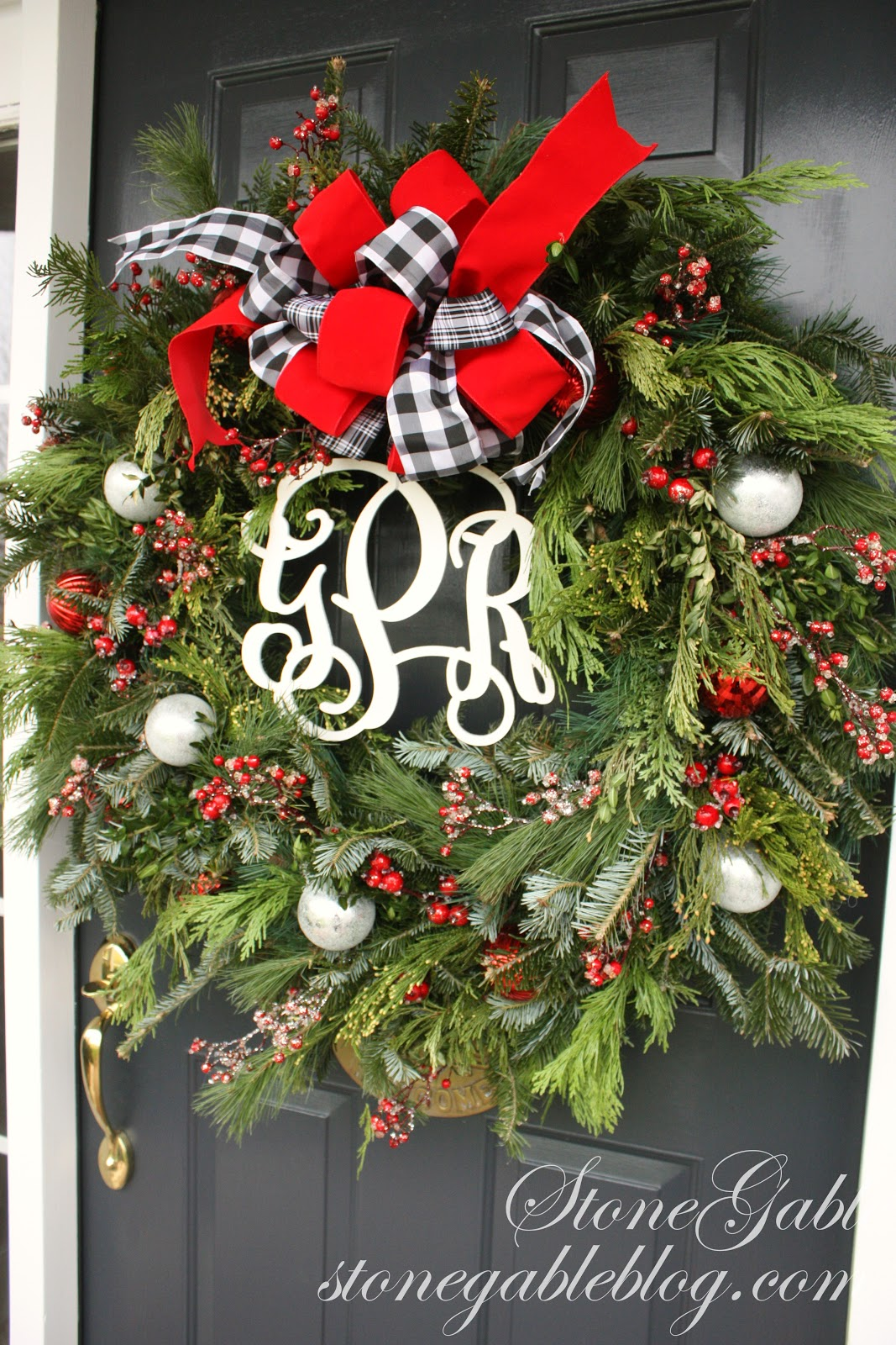 christmas door - Black Red White Christmas Decorations