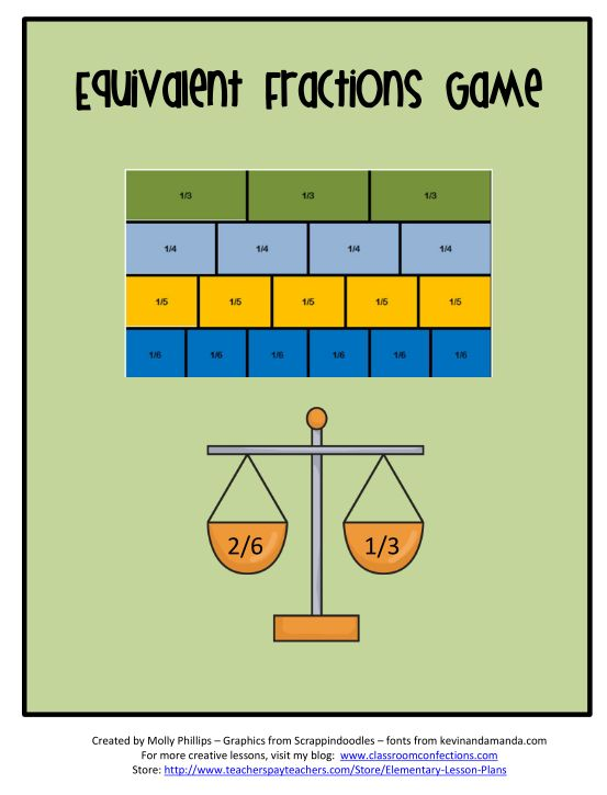 It is a picture of Old Fashioned Equivalent Fractions Games Printable
