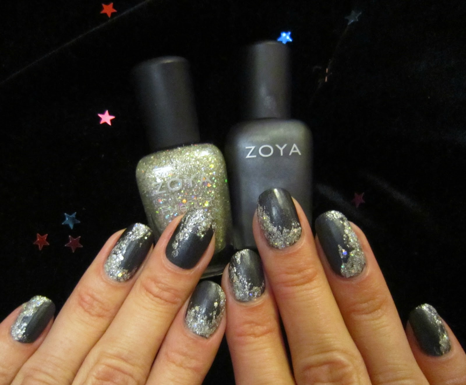 Concrete and Nail Polish: New Year\'s Eve Nails