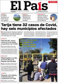 31/05/2020    BOLIVIA   UNA  PRIMERA PÁGINA DE LA PRENSA