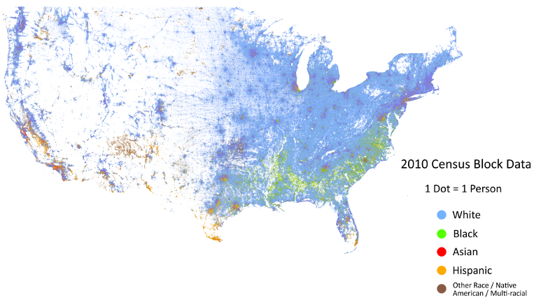 Metanoodle Ultimate Census Map USA Find Your Own Dot - Find map of usa