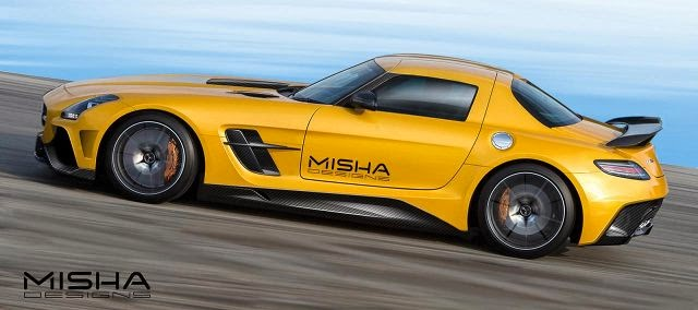 Modifikasi Mobil Mercedes Benz SLS AMG Misha Design