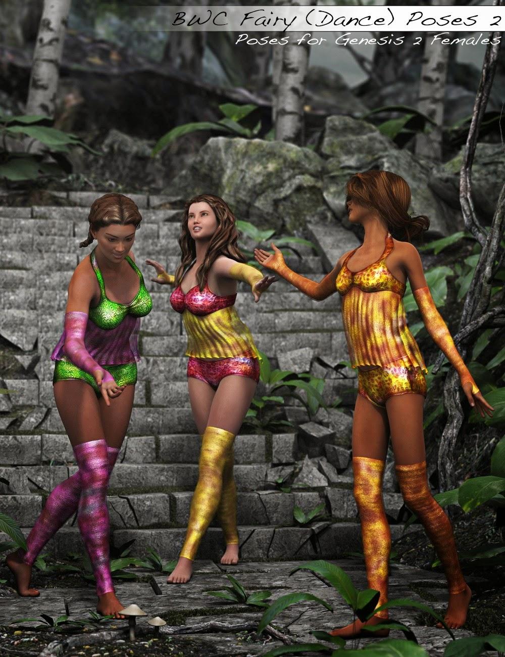BWC fée (Dance) Poses pour Genesis 2 Femme