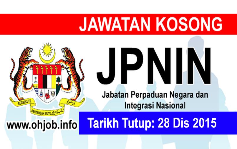 Jawatan Kosong Jabatan Perpaduan Negara dan Integrasi Nasional (JPNIN) logo www.ohjob.info disember 2015