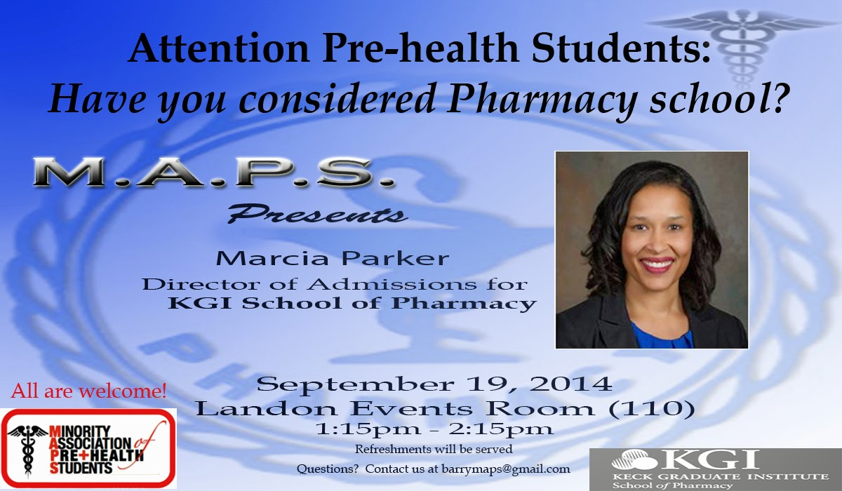 barry maps would like to extend a sincere thanks to ms marcia parker mba director of admissions kgi school of pharmacy for sharing insight into the