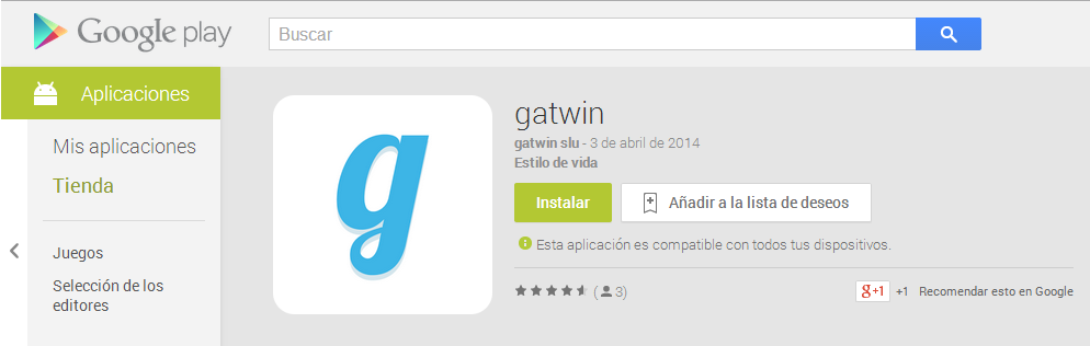 Gatwin en google play