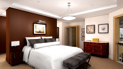 Kamar tidur model apartemen