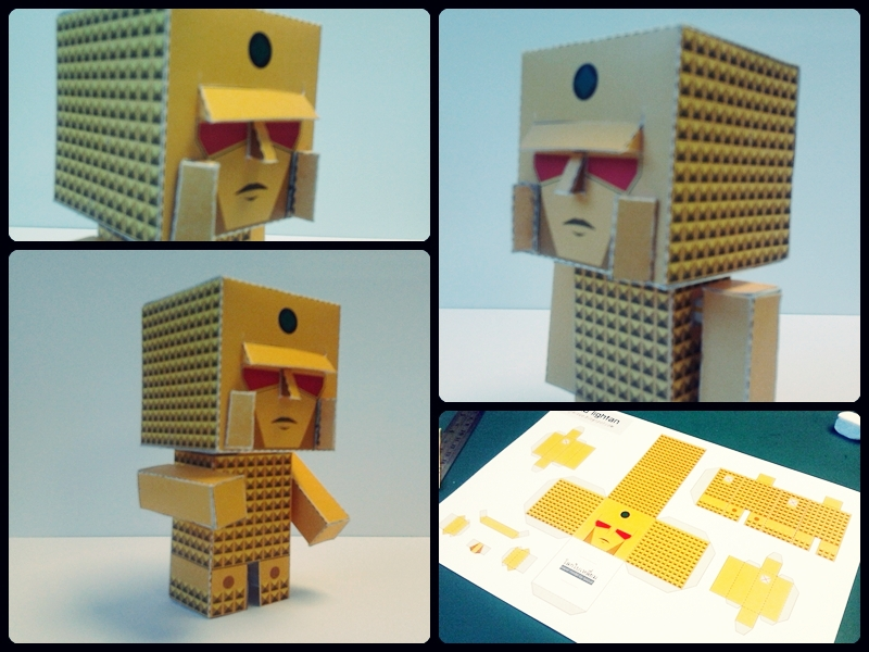 Golden Warrior Gold Lightan Papercraft
