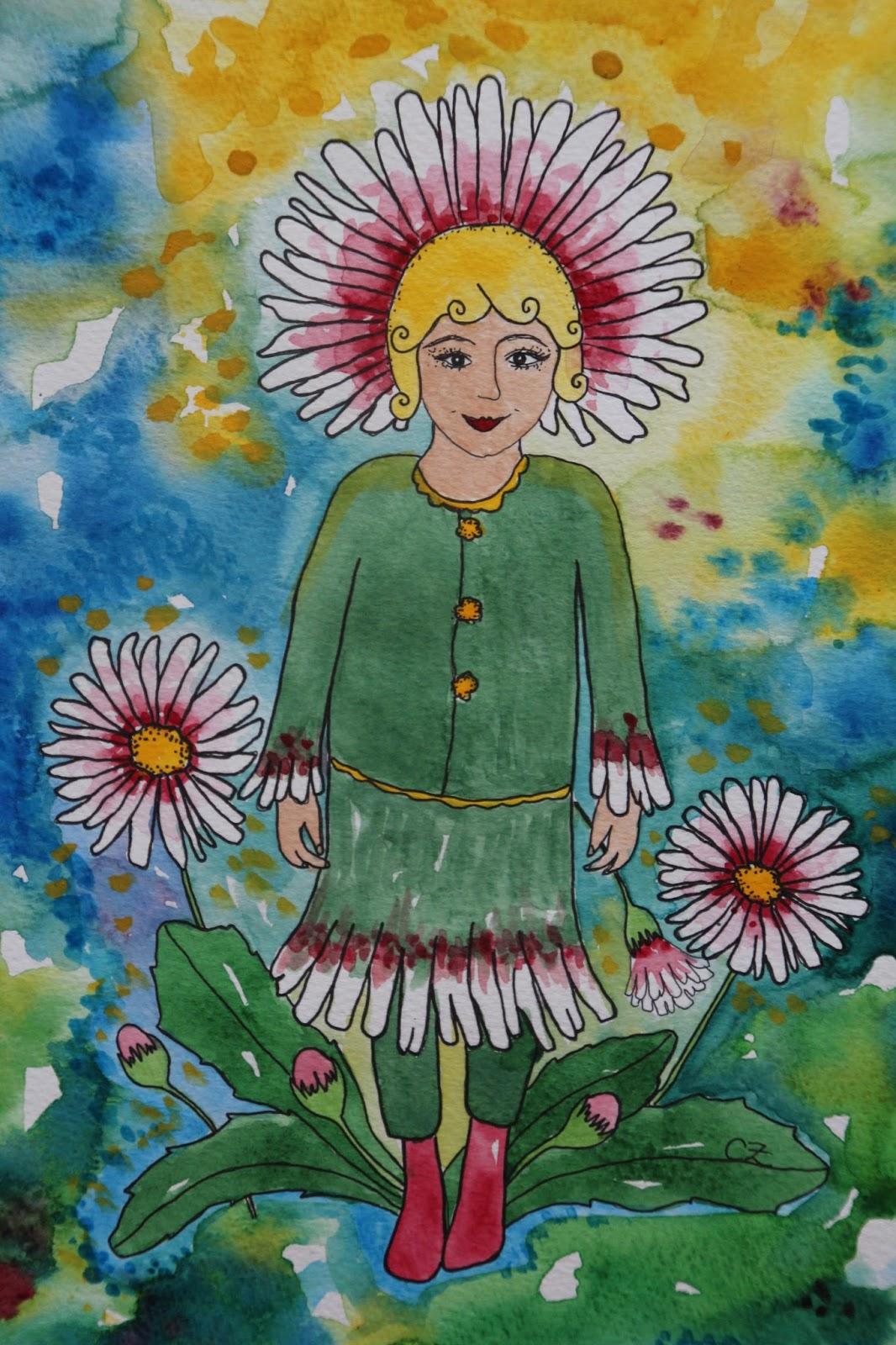 akvarell carolin zander tusensköna