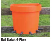 Calf Feeding Rail Bucket 6-Place (Tempat Minum Anak Sapi 6 Dot)