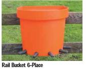 Calf Feeding Rail Bucket 6-Place (Tempat Minum Anak Sapi 6 Dot)