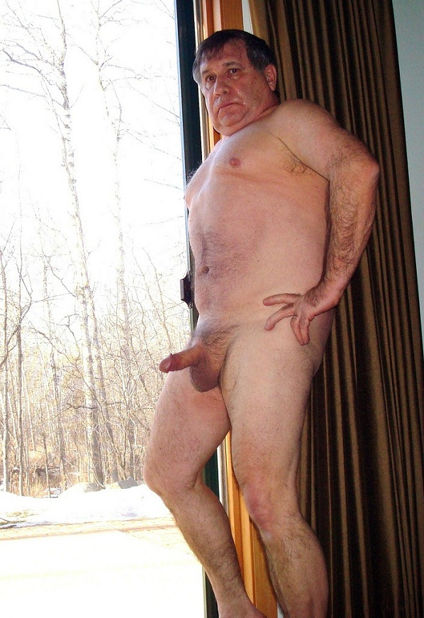 Self shot nude man
