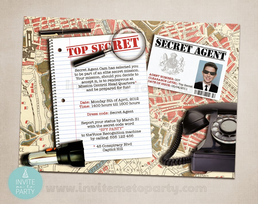 Invite me to party secret agent party detective party spy party secret agent party invitation detective party invitation filmwisefo