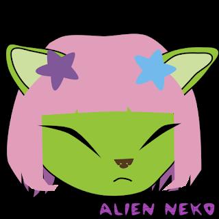 emoji - smileys- emoticons squint alien neko cat