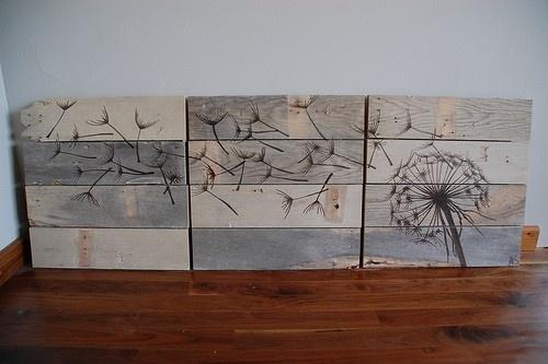 vintage reclaimed wood wall art 3