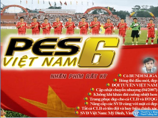 PES 6 Việt Nam, game PES 6 hay cho máy tính, Laptop