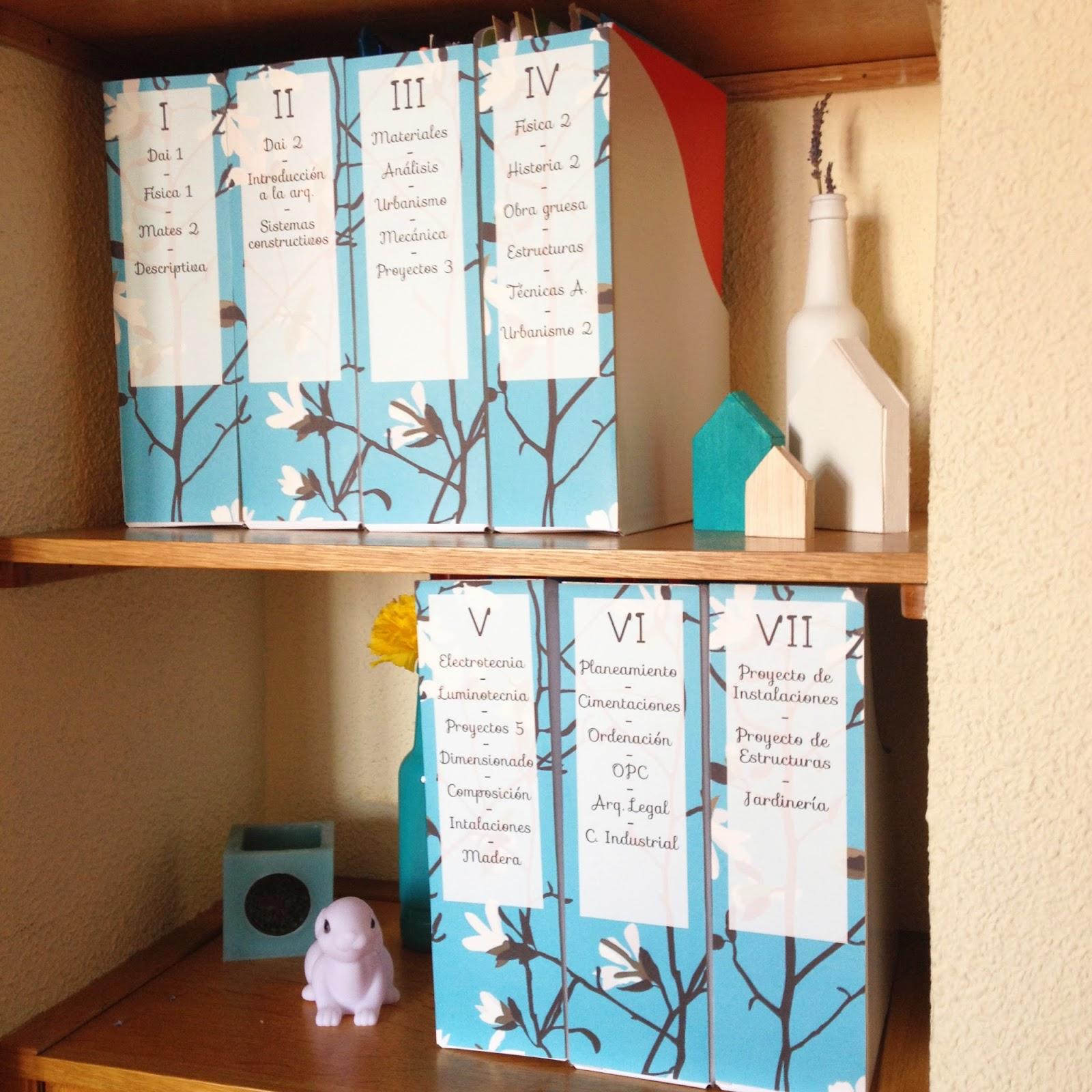 Mi armario coqueto diy personaliza tus archivadores for Como pegar papel mural en madera
