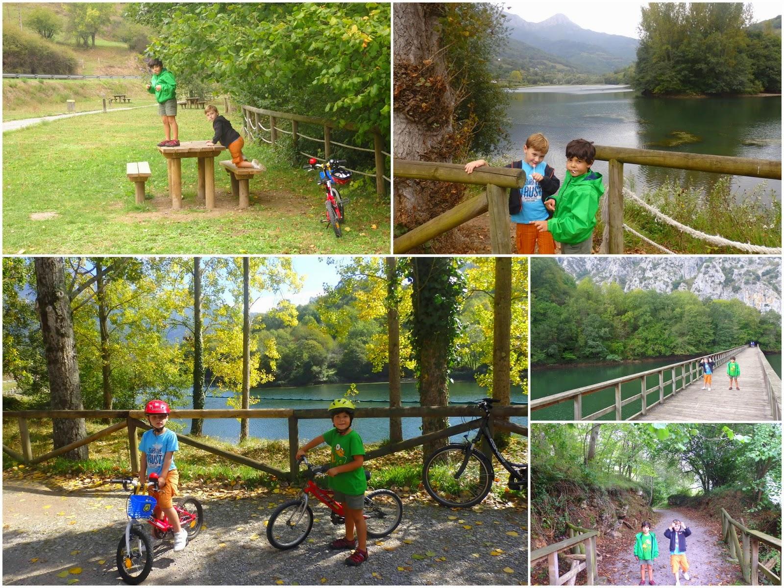 Asturias con niños: Senda del Oso: de Buyera a Valdemurio en bici