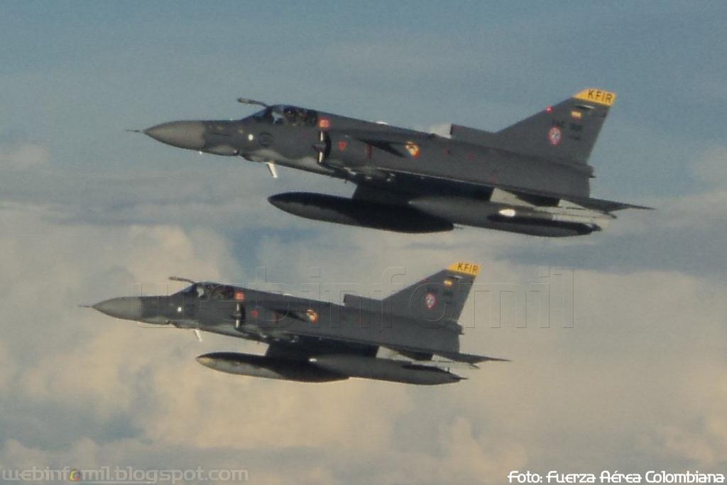 Colombian Armed Forces. Misil%20Rafael%20Derby%20Fuerza%20Aerea%20Colombiana%20FAC%20Kfir%20COA%20C10