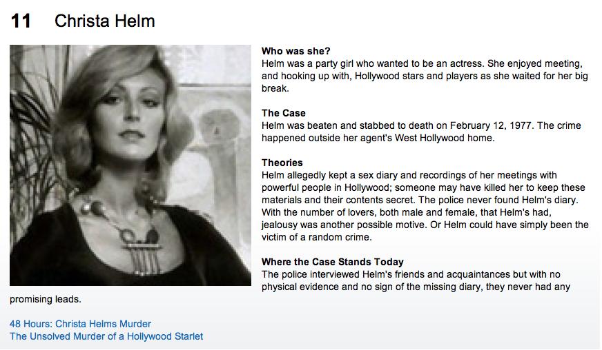 Pin Christa Helm Crime Scene Photos Wiki Searcher on Pinterest