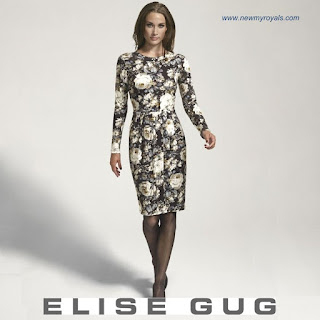 Style of Princess Mary ELISE GUG Floral Print Dress