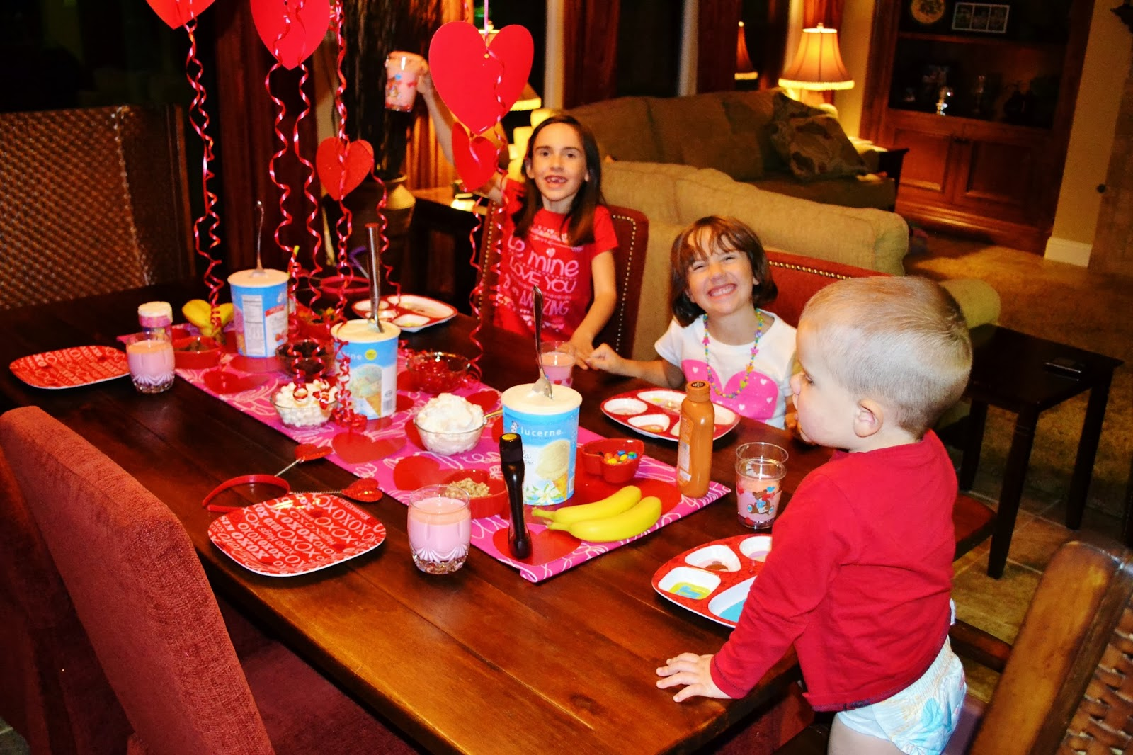 Valentines Day Banana Split Party