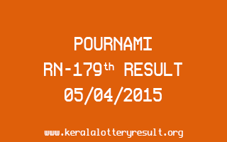 POURNAMI RN 179 Lottery Result 5-4-2015