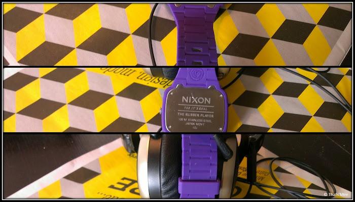 Montre Nixon Player Rubber violet Hommes