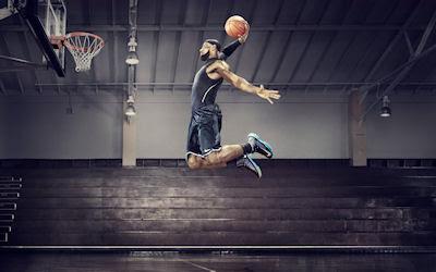 Basquetbolista promocionando a Nike - Basketball - Deportes