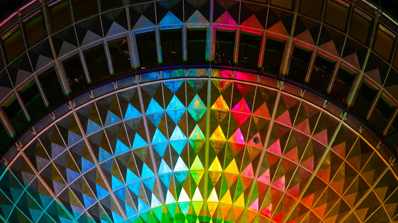 Detail of a television tower illuminated during the Festival of Lights in 2011, Berlin, Germany (© Holger Burmeister/Alamy) 36
