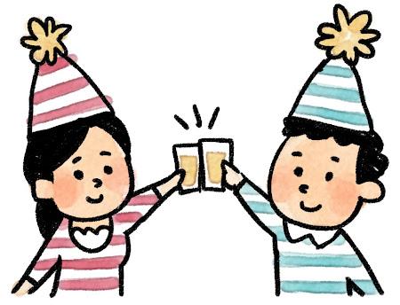 パーティのイラスト「乾杯!」