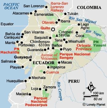 mapa hidrográfico del ecuador