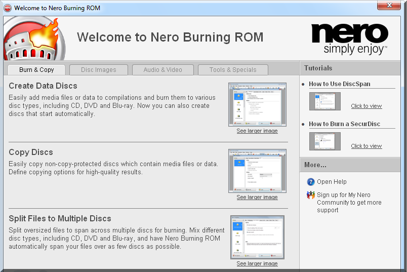 nero burning rom trial version download