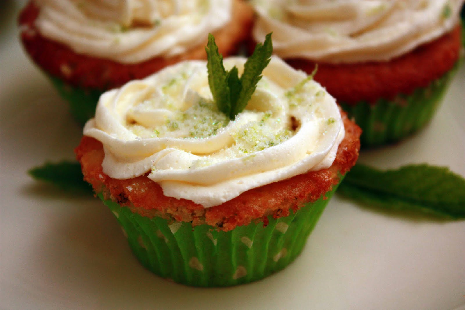 Pomegranate Mojito Cupcakes Recipe — Dishmaps
