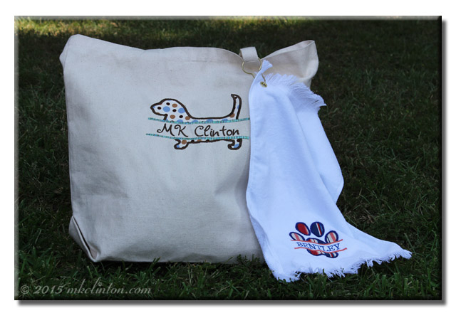 Monogrammed Bag and Drool Towel