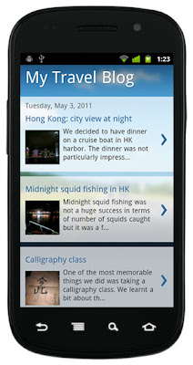Blogger Mobile Templates Introduced