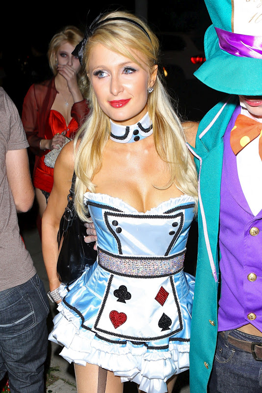Paris Hilton at Halloween Party in Beverly Hills