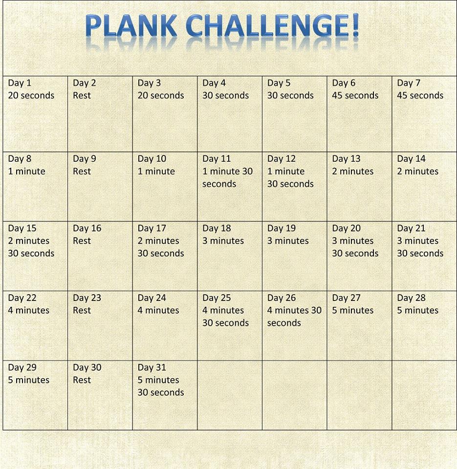 Plank Challenge Plank challenge
