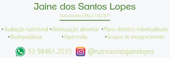 Nutricionista Jaine Lopes