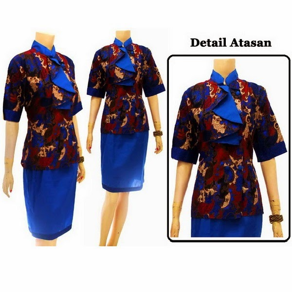 DB3711 Mode Baju Dress Batik Modern Terbaru 2014