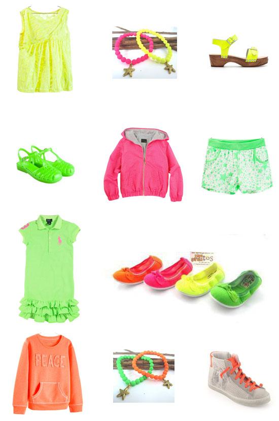Selección moda niña flúor pequeña fashionista