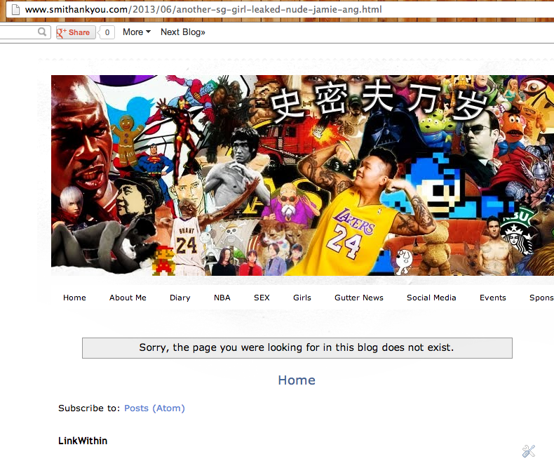 My Jamie Ang Blogpost got removed. ~ Smithankyou